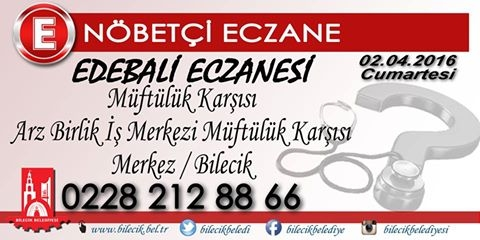 02.04.2016 Nöbetçi Eczane
