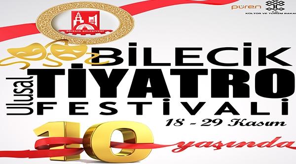 """""""10. ULUSAL BİLECİK TİYATRO FESTİVALİ"""" İÇİN BİLETLER SATIŞA SUNULDU"""