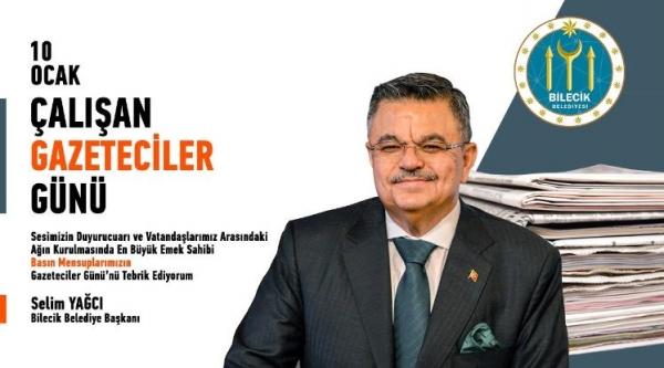 """BAŞKAN YAĞCI'NIN """"10 OCAK ÇALIŞANLAR GAZETECİLER GÜNÜ"""" MESAJI"""
