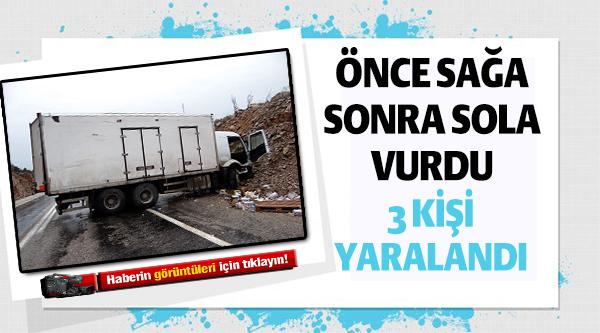 GÖLPAZARI'NDA TRAFİK KAZASI; 3 YARALI