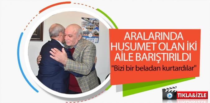 BİLECİK'TE HUSUMETLİ İKİ AİLE BARIŞTIRILDI