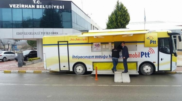 MOBİLİZE PTT ARACI VEZİRHAN'DA HİZMETE GİRDİ