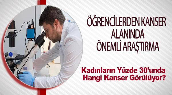 ÖĞRENCİLERDEN KANSER ALANINDA ÖNEMLİ ARAŞTIRMA