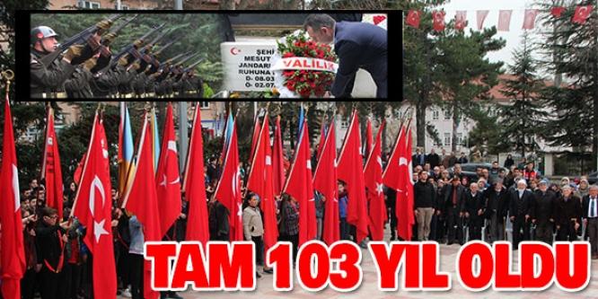 BİLECİK'TE ÇANAKKALE ZAFERİNİN 103'ÜNCÜ YIL DÖNÜMÜ KUTLANDI