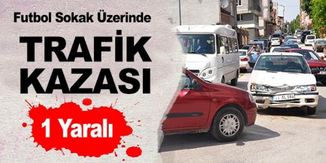 BİLECİK'TE TRAFİK KAZASI, BİR KİŞİ YARALANDI
