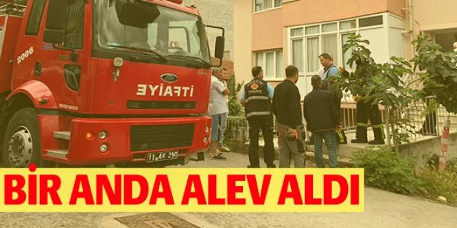 BİR ANDA ALEV ALDI