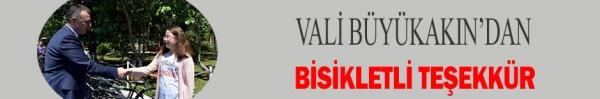 VALİ BÜYÜKAKIN'DAN BİSİKLETLİ TEŞEKKÜR