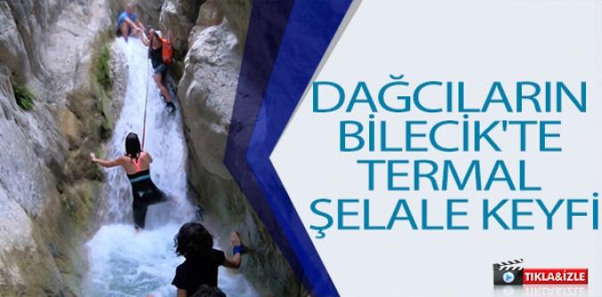 DAĞCILARIN BİLECİK'TE TERMAL ŞELALE KEYFİ