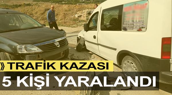 BİLECİK'TE TRAFİK KAZAZI; 5 YARALI