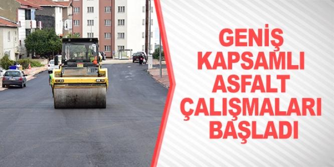 GENİŞ KAPSAMLI ASFALT ÇALIŞMALARI BAŞLADI