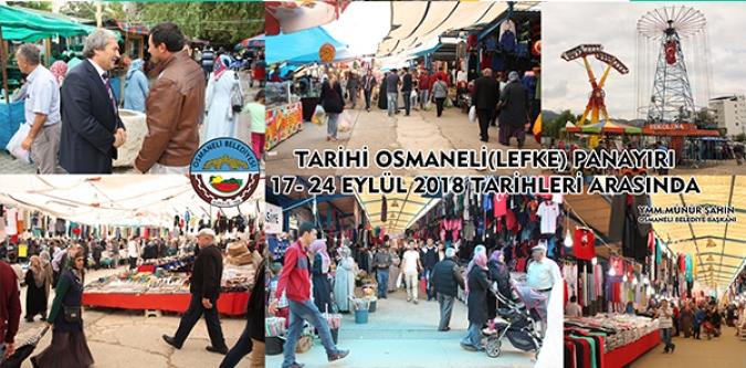TARİHİ OSMANELİ PANAYIRI 17-24 EYLÜL TARİHLERİ ARASINDA