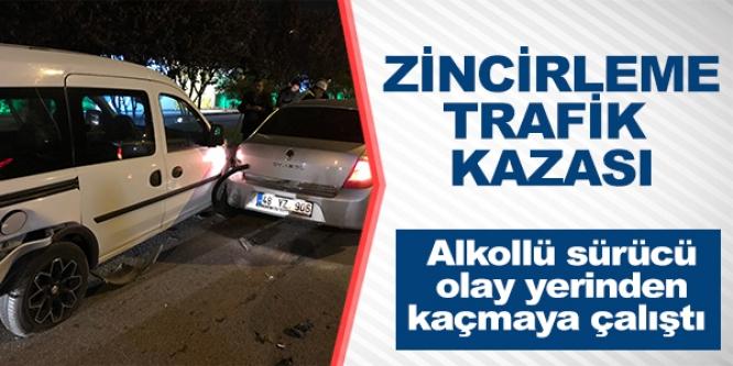 BİLECİK'TE ZİNCİRLEME TRAFİK KAZASI