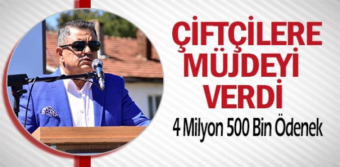 BİLECİKLİ ÇİFTÇİLERE 4 MİLYON 500 BİN TL ÖDENEK ÇIKTI