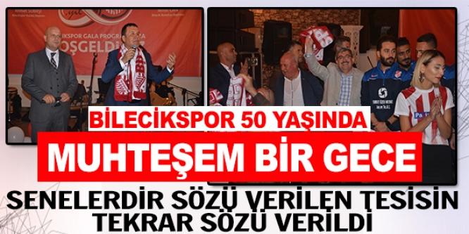 BİLECİKSPOR 50'NCİ YAŞINI KUTLADI