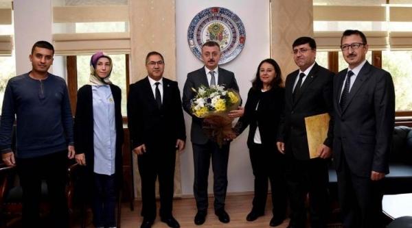 PTT'DEN VALİ BÜYÜKAKIN'A 178. YIL ZİYARETİ