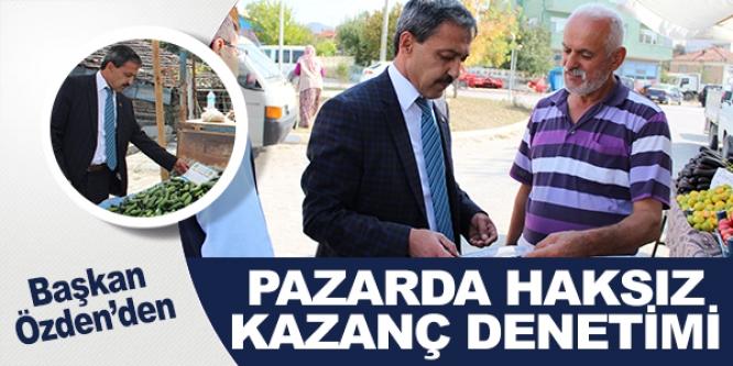YENİPAZAR HALK PAZARINDA HAKSIZ KAZANÇ DENETİMİ