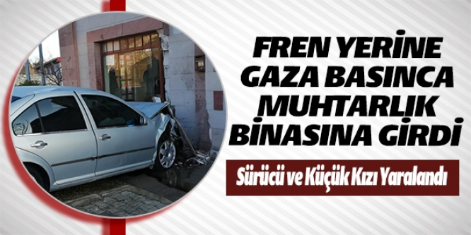 FREN YERİNE GAZA BASINCA MUHTARLIK BİNASINA GİRDİ