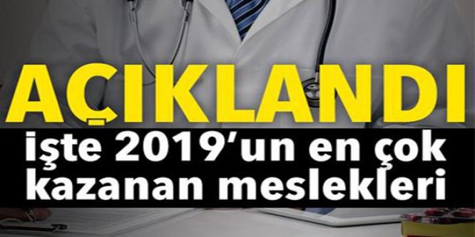 2019'UN EN ÇOK KAZANAN MESLEKLERİ