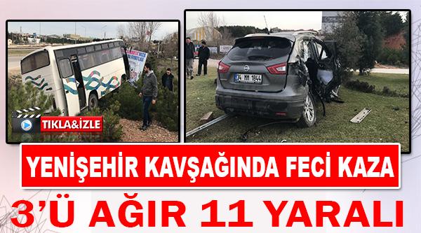 BİLECİK'TE TRAFİK KAZASI