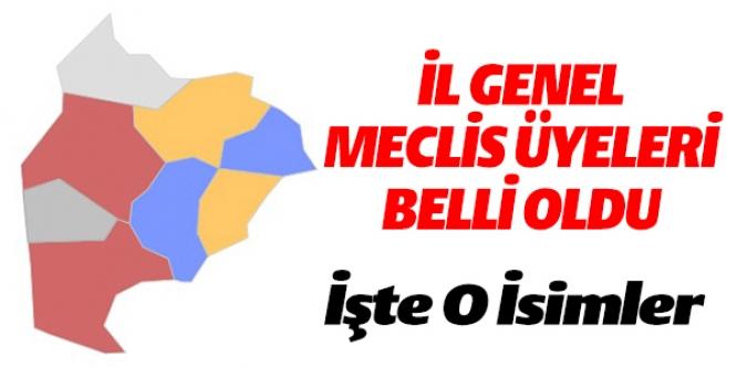 BİLECİK İL GENEL MECLİS ÜYELERİ BELLİ OLDU
