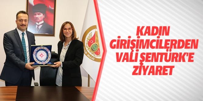 KADIN GİRİŞİMCİLERDEN VALİ ŞENTÜRK'E ZİYARET