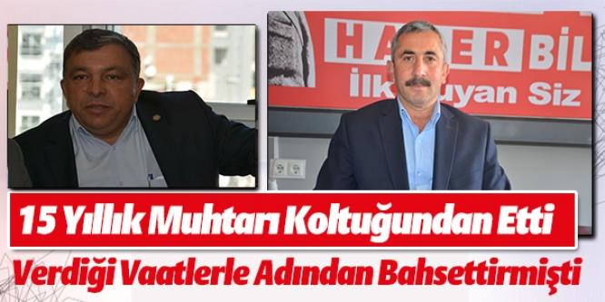 """""""MAAŞ ALMAYACAĞIM"""" DEDİ 15 YILLIK MUHTARI DEVİRDİ"""