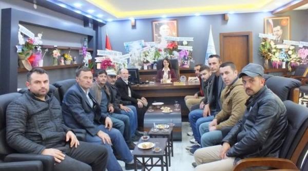 PAZARYERİ AVCILAR KULÜBÜ'NDEN BAŞKAN TEKİN'E ZİYARET
