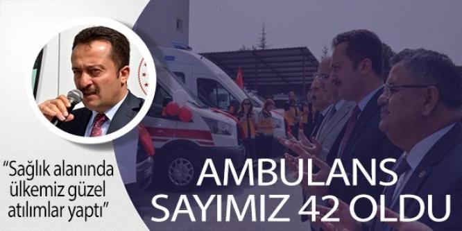 BİLECİK'TE AMBULANS TESLİM TÖRENİ YAPILDI
