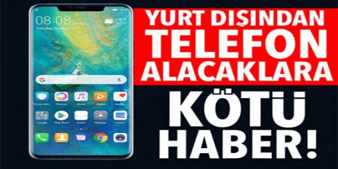 YURT DIŞINDAN TELEFON ALACAKLARA KÖTÜ HABER !