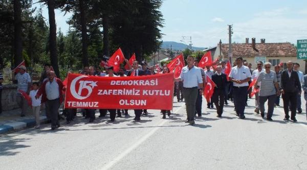 """""""15 TEMMUZ MİLLİ BİRLİK VE DEMOKRASİ GÜNÜ"""" YÜRÜYÜŞÜ"""
