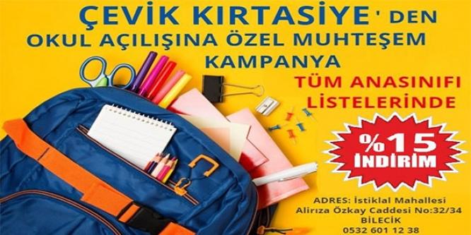 ÇEVİK KIRTASİYE'DEN MUHTEŞEM KAMPANYA !