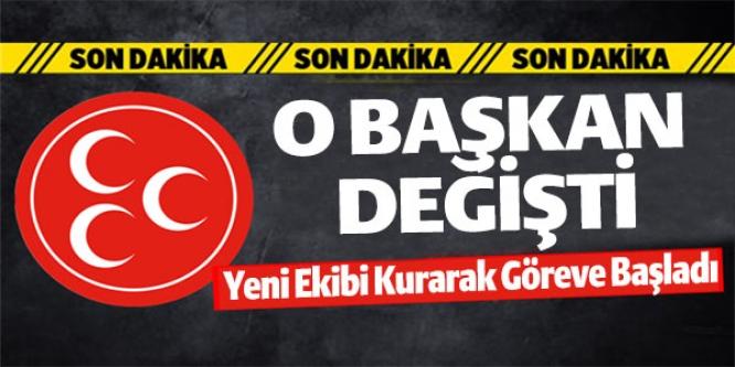 MHP'DE BAYRAK DEĞİŞİMİ