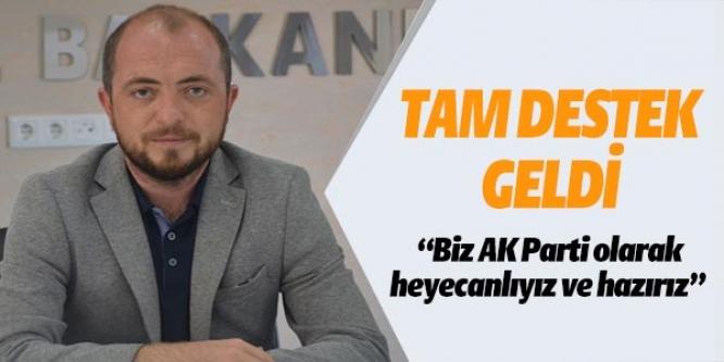 TAM DESTEK GELDİ
