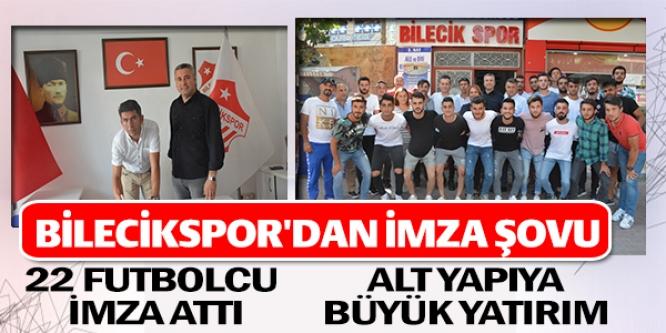BİLECİKSPOR'DAN İMZA ŞOVU