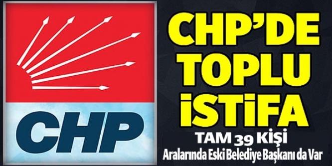 CHP'DE İSTİFA DEPREMİ
