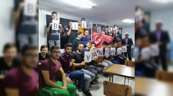 KYK ÖĞRENCİLERİNDEN 'BARIŞ PINARI HAREKATI'NA' TAM DESTEK