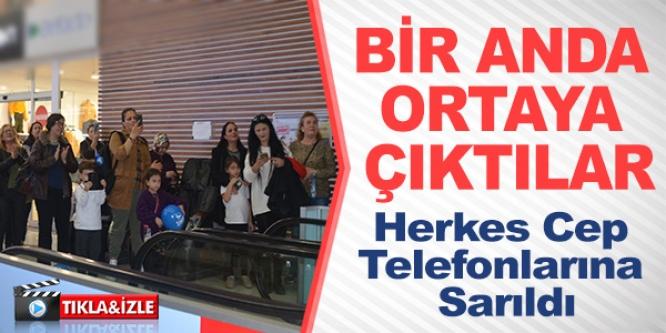 BİR ANDA ORTAYA ÇIKTILAR, HERKES CEP TELEFONLARINA SARILDI