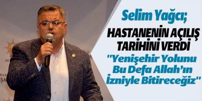 HASTANENİN AÇILIŞ TARİHİNİ VERDİ !