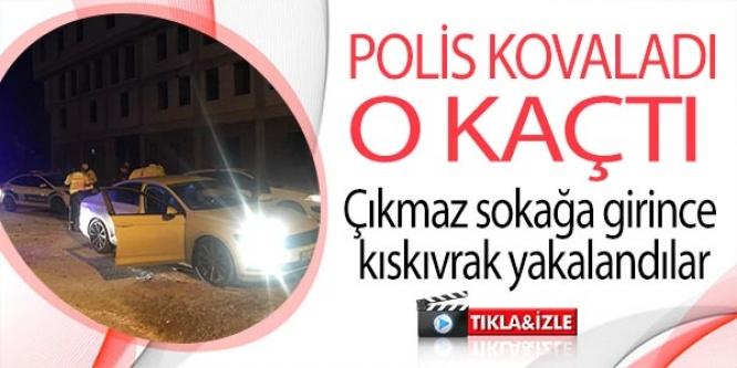 POLİS KOVALADI O KAÇTI !