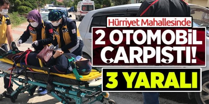 BİLECİK'TE 2 OTOMOBİL ÇARPIŞTI! 3 YARALI