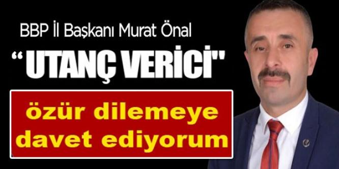 ÖZÜR DİLEMEYE DAVET EDİYORUM!