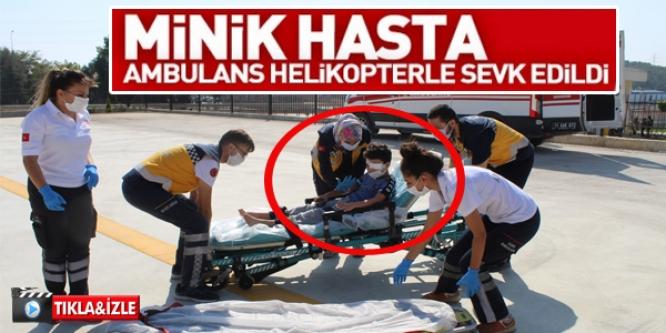 BİLECİK'TE TEDAVİ GÖREN 8 YAŞINDAKİ ÇOCUK AMBULANS HELİKOPTER SEVK EDİLDİ