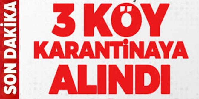 BİLECİK'TE 3 KÖY KARANTİNAYA ALINDI