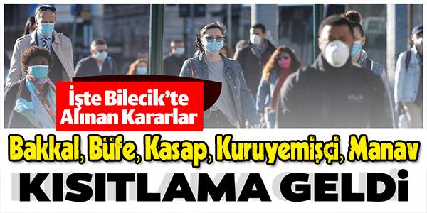 BİLECİK'TE ALKOL SATIŞI YAPAN YERLERE KISITLAMA GELDİ