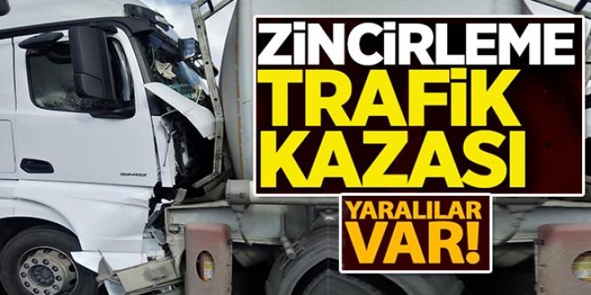 BİLECİK'TE ZİNCİRLEME TRAFİK KAZASI: 2 YARALI