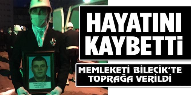 KALP KRİZİ SONUCU ÖLEN POLİS MEMURU TOPRAĞA VERİLDİ