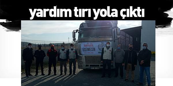 YARDIM TIRI YOLA ÇIKTI