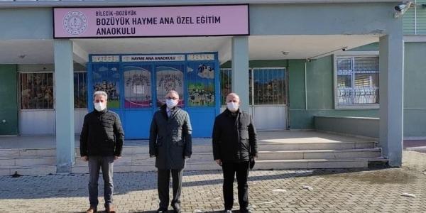 BOZÜYÜK'TEKİ OKULLARDA İNCELEMELERDE BULUNDU