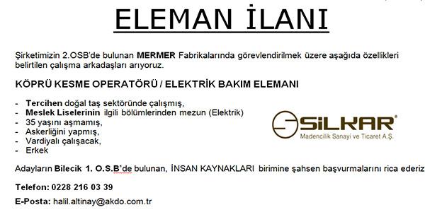 ELEMAN İLANI