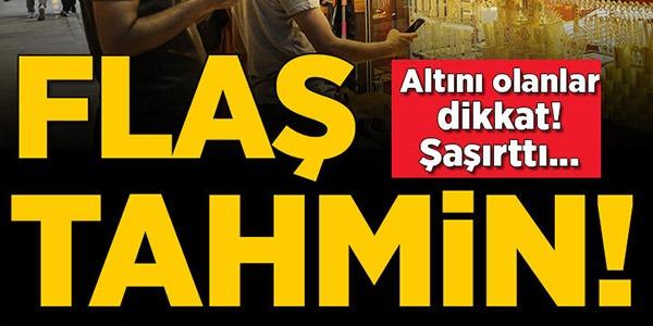 FLAŞ TAHMİN !